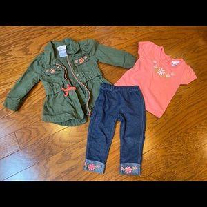 Little Lass 3 piece army jacket set